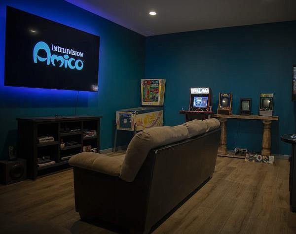 Intellivision's office full of nostalgic games