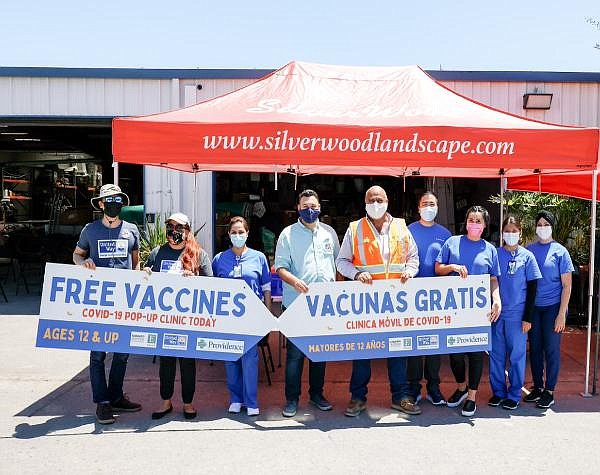 United Way hosts vaccination mobile clinic at Silverwood Landscape in Santa Ana