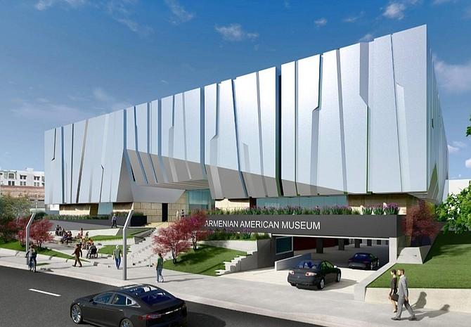 Rendering of Armenian American Museum in Glendale.