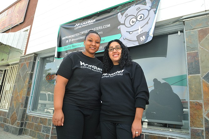 Shannon Smith and Nancy Alvarez launched Monster Coffee last year.