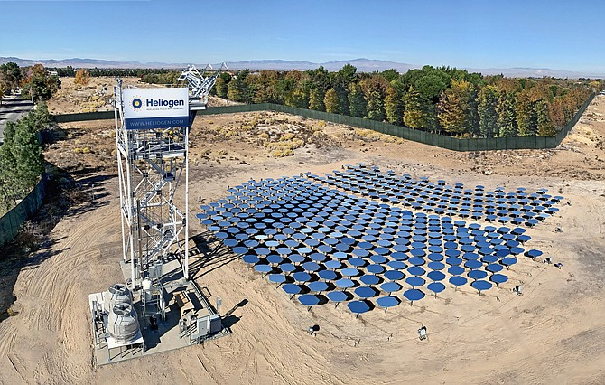 Heliogen's Sunlight Refinery system.