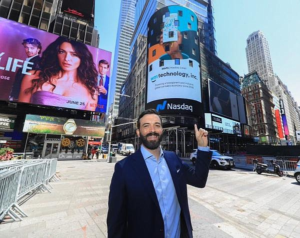 Weedmaps CEO Chris Beals in NYC on listing day