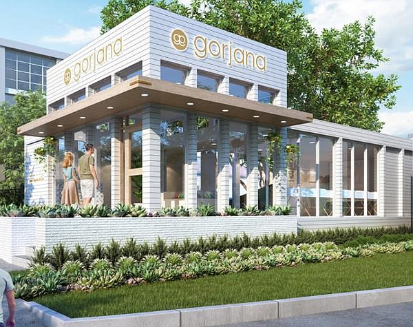 A rendering of Gorjana's store in Austin, Texas