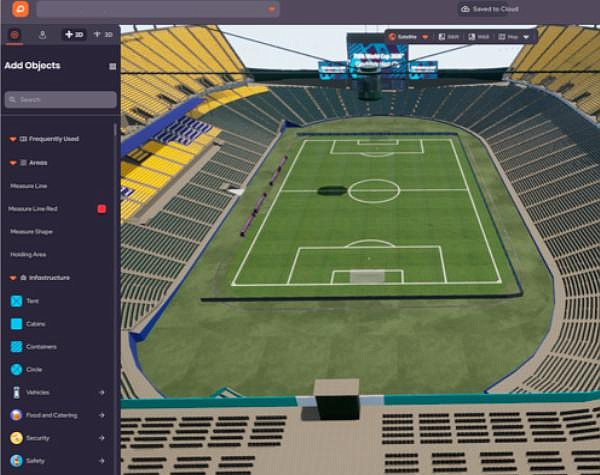 OnePlan: 3D venue twin of Commonwealth Stadium
