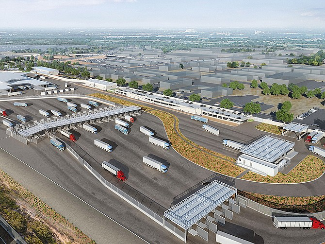 Photo Courtesy of Atkinson/Clark JV, Gruen Associates & Jones Studio Described as the 21st Century Border Crossing, the new port of entry will help drive economic activity and reduce traffic congestion in San Diego.