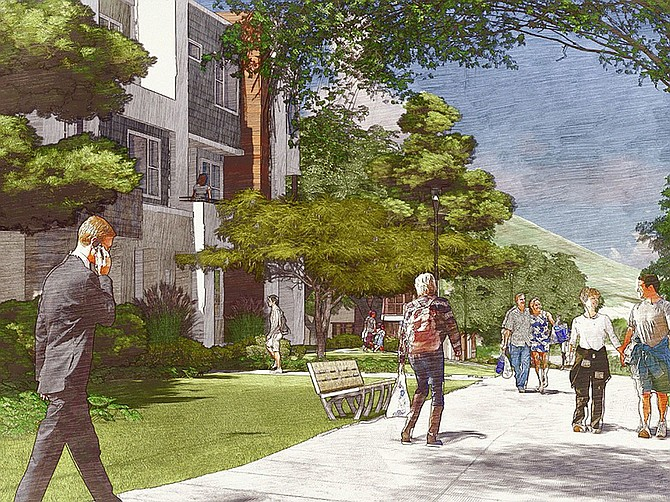 Renderings courtesy of New Urban West A planned Carmel Mountain development will include 1,200 homes, trails and parks.