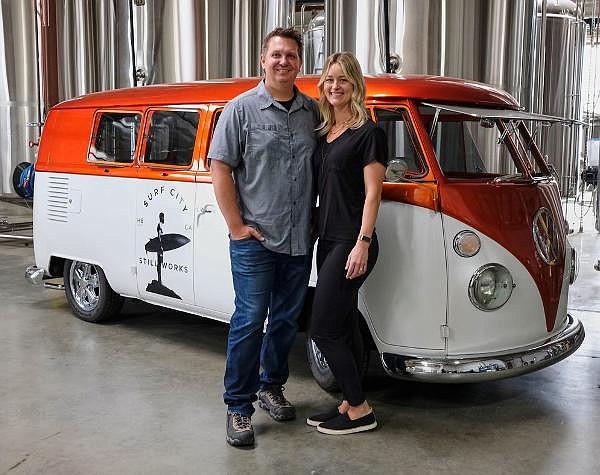 Josh and Elena Kornoff at their distillery