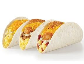 Del Taco Double Cheese Breakfast Tacos