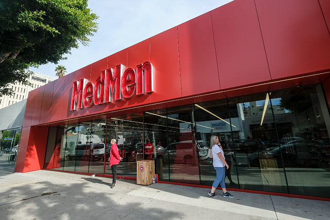 MedMen's dispensary at 110 S. Robertson Blvd. in Beverly Hills.