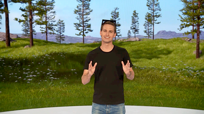 Evan Spiegel said Snap has found success with its augmented reality technology.