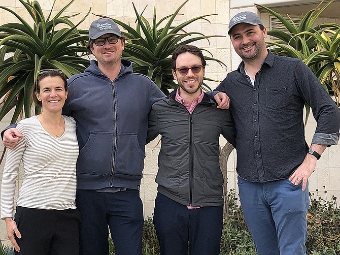 Photo courtesy of FutureProof.  (From left to right) FutureProof's founding team CEO Alisa Valderrama, Co-Founder Alex Gelber, CTO Mark Allen, and Co-Founder Ashby Monk.