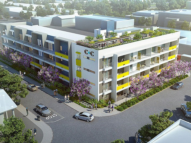 Rendering courtesy of Alliance Development Services. C+C Flats was built in downtown Chula Vista by Allied Development Services.
