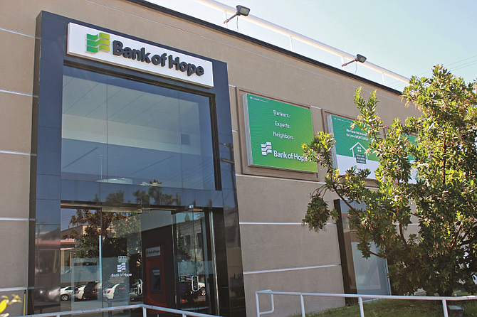 Bank of Hope headquarters at  3200 Wilshire Blvd.