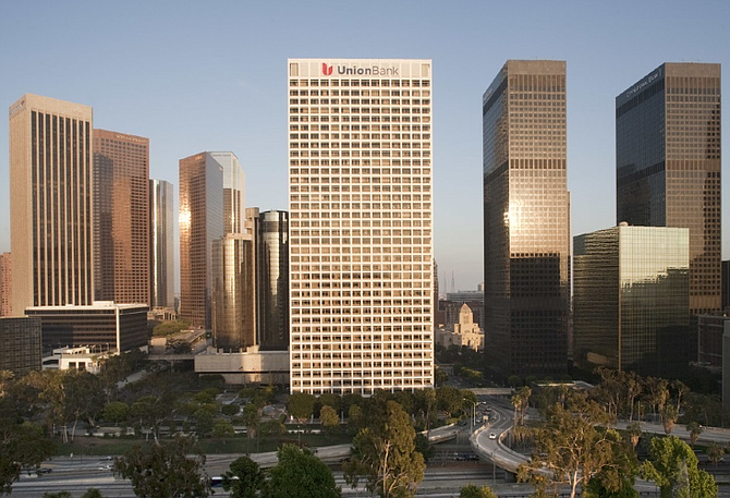 Downtown's Union Bank Plaza skyscraper is a Historic-Cultural Monument.