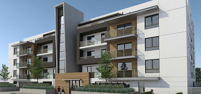 Rendering of proposed apartments at 14805-14817 Erwin St. in Van Nuys.