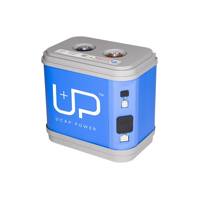 Photo courtesy of UCAP Power. UCAP Power's Ultracapacitor systems use sustainable based products offering a long-lasting source of reliable high-power energy storage that can help eliminate lead-acid and other hazardous materials in batteries.