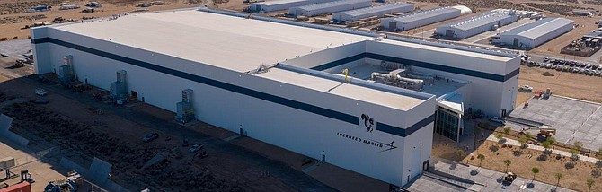 Lockheed Martin's new intelligent factory, part of Skunk Works expansion in Palmdale.