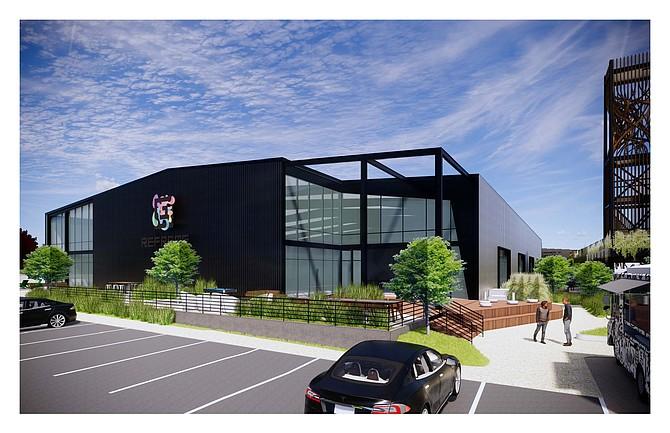Rendering of Reframe Studios complex.