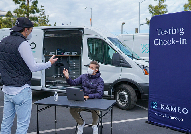 Kameo Health provides Covid testing at filming sites and delivers results in 12 hours.