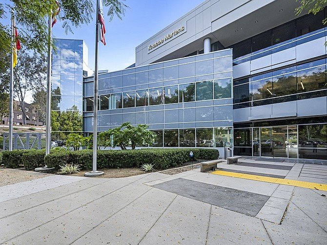 Photo courtesy of Pacific Building Group. Knobbe Martens law firm remodeled a Del Mar Heights building for the firm's new San Diego offices.