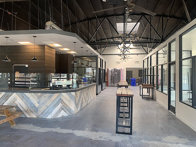Photo Courtesy of Pacific Point Properties Market on 8th, a 9,000 square foot food hall with a 2,000 square foot beer garden attached, is scheduled to open in September in National City.