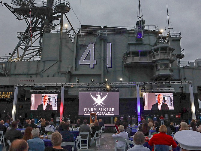 Photo Courtesy of the Gary Sinise Foundation San Diego Chapter The Gary Sinise Foundation, founded by actor Gary Sinise, launched its San Diego Chapter last month with an event at the USS Midway.