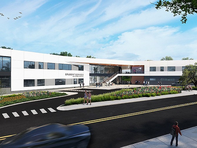 Rendering courtesy of DLR Group MiraCosta College is building a new Student Services Building on its Oceanside Campus.