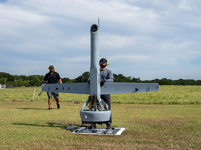Photo courtesy of Chris Randour, Shield AI Shield AI recently acquired Texas-based Martin UAV, which builds the V-BAT unmanned aircraft.