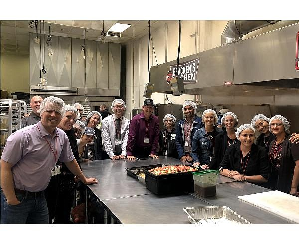 Members of OCCF's impact Philanthropy Group visit Bracken's Kitchen, a nonprofit fighting food insecurity throughout Orange County