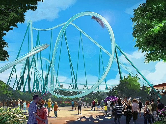 Rendering Courtesy of SeaWorld Entertainment, Inc. After numerous setbacks, SeaWorld Entertainment, Inc. is scheduled to launch Emperor, the tallest, fastest, longest dive coaster in California, at the San Diego Park in March 2022.
