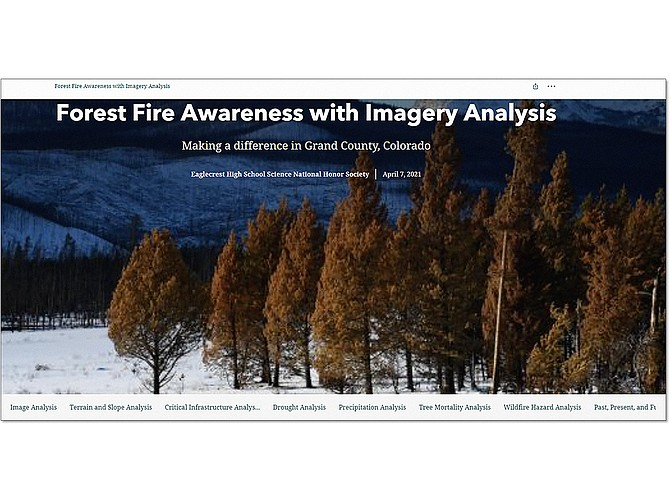 Photo courtesy of BAE Systems Using SOCET GXP software – a San Diego product meant for defense and intelligence analysts – a student group interpreted satellite data, evaluated fire danger and produced this detailed report.