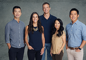 Fika Ventures Team: (From left) John Chen, Gabriella Brignardello, Matt Hersh, Eva Ho and TX Zhuo.