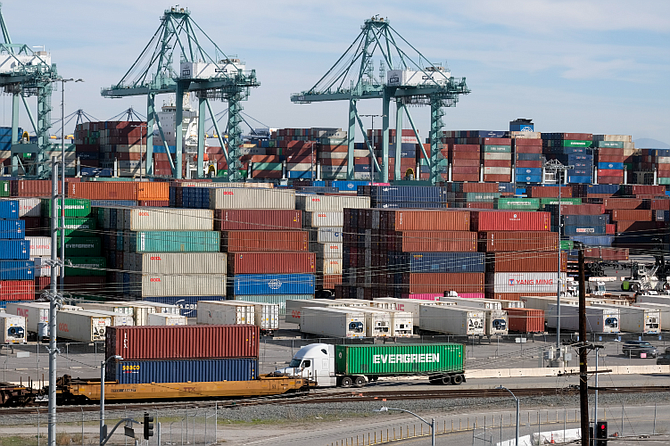 The Port of Los Angeles processed 954,377 TEUs of cargo in August.