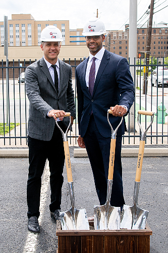 Founders Robert Jue and Jerome Nichols start work at Wesley Place.