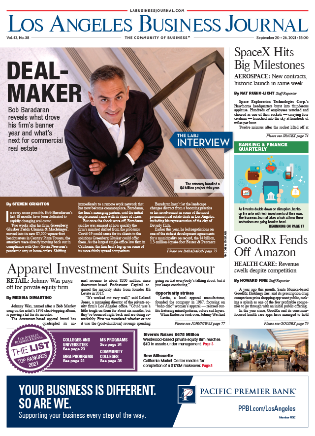 Los Angeles Business Journal Digital Edition