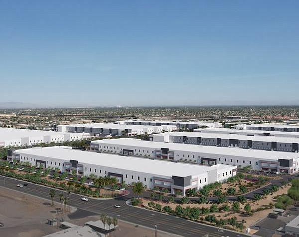 Rendering of 8-building campus