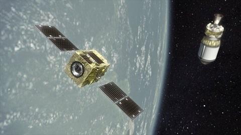 A rendering of Astroscale's ADRAS-J satellite.