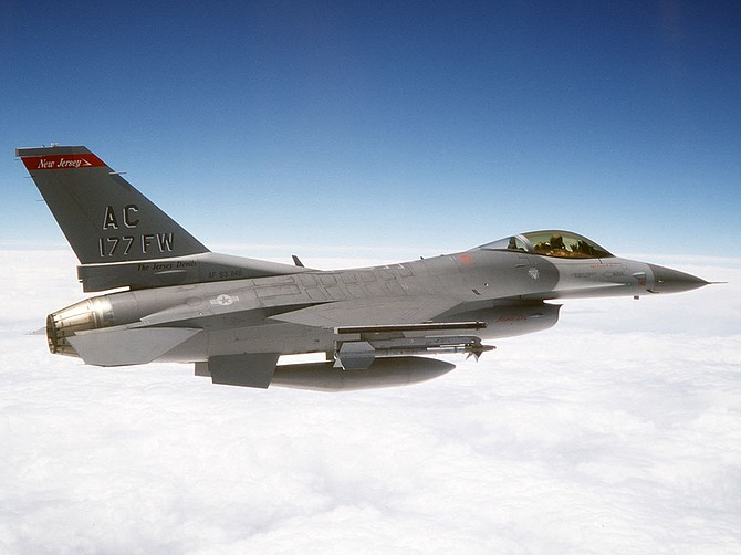 Photo courtesy of U.S. Air Force Cubic Corp.'s Nuvotronics business received a contract to deliver advanced electronics to be tested in an upgrade of the U.S. Air Force's F-16 aircraft.