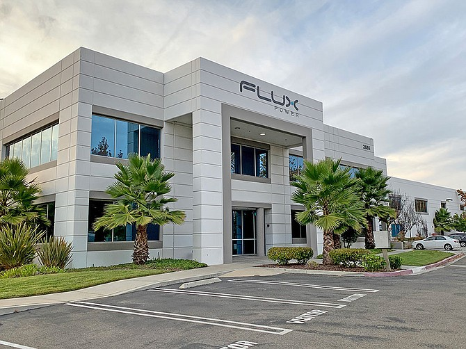 Flux Power operates a 65,000-square-foot manufacturing facility in Vista.