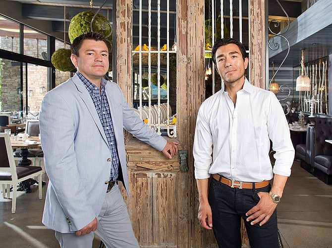 Arnulfo Contreras (left) and David Contreras (right), along with other family members, run the family-owned and operated company Karina's Group, with 10 restaurants in San Diego.