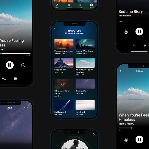 Artists share their personal experiences on Dive Studio's Mindset audio app.