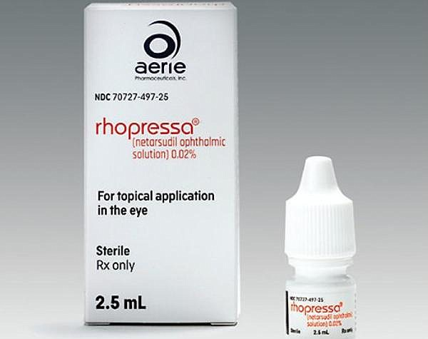 Aerie's Rhopressa, eye drops used by patients with certain types of glaucoma