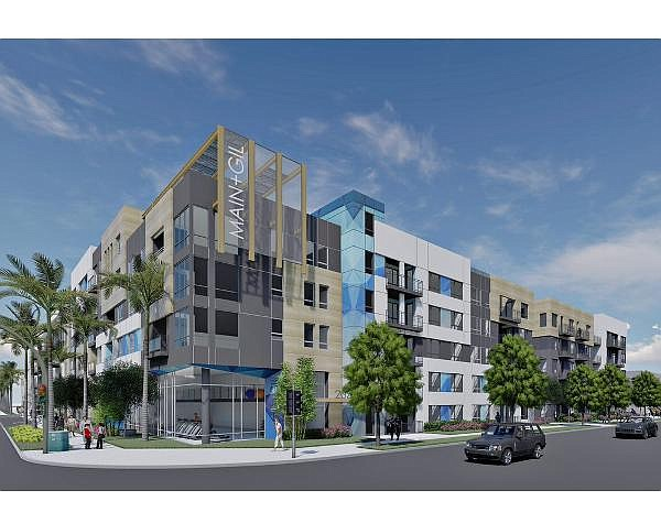 Rendering of 2055 Main; among last remaining entitled residential projects in IBC to break ground