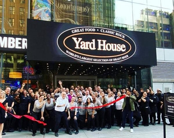 Yard House employees at the new restaurant in Times Square