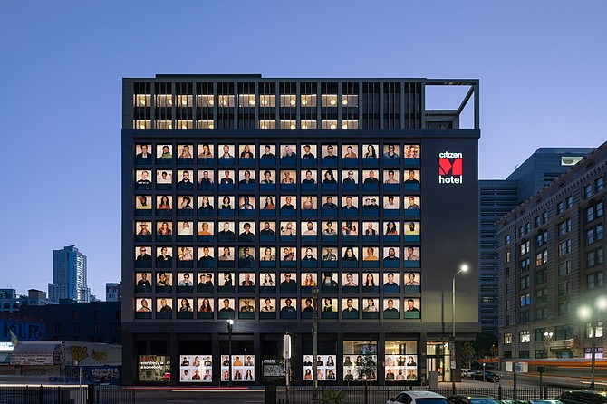 Downtown's CitizenM, which opened in August, used modular construction.