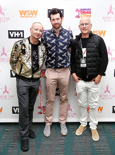 WOW co-founder Fenton Bailey (left), television host Billy Eichner and WOW co-founder Randy Barbato.
