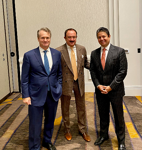 (From left) BofA's Brian Moynihan, L'Attitude's co-founder Sol Trujillo and BofA's Raul Anaya at the L'Attitude conference for Latino business owners last week.