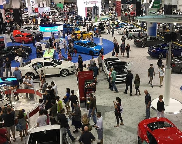 Scene from 2019, the last time the Orange County Auto Show was held